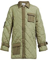 Ganni - Aspen Quilted Jacket - Lyst