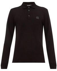 Dolce & Gabbana - ラバライズロゴプレート コットンピケ ポロシャツ - Lyst