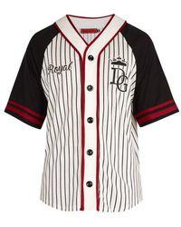 Dolce & Gabbana - Varsity Striped Cotton-blend Sweatshirt - Lyst