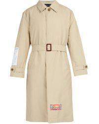 Martine Rose - Patch Appliqué Cotton Blend Trench Coat - Lyst