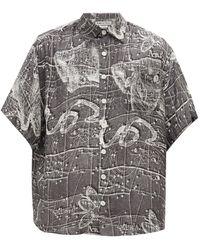 Schnayderman's - ゾディアック クレープシャツ - Lyst