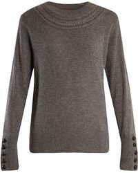 Burberry - Cable-knit Yoke Cashmere Sweater - Lyst