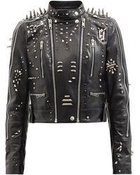 Givenchy スタッズ レザージャケット - ブラック