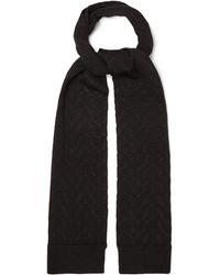 Valentino Garavani - Optical Valentino Garavani-jacquard Wool-blend Scarf - Lyst