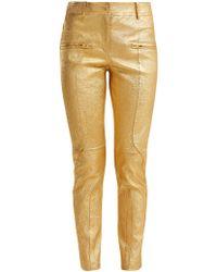 Sies Marjan - Brin Metallic Leather Biker Trousers - Lyst