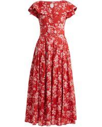 Gül Hürgel   Belted Floral-print Cotton Dress   Lyst