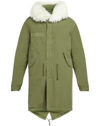 Mr & Mrs Italy - Shearling Trimmed Cotton Parka - Lyst