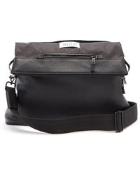 Maison Margiela 5ac Grained-leather Cross-body Bag - Black