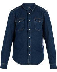 Givenchy - Logo Jacquard Side Stripe Denim Shirt - Lyst