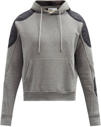 GmbH Faruk Organic-cotton Jersey Hooded Sweatshirt - Grey