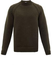 Raey Pull en laine mélangée épaisse à col ras du cou - Multicolore