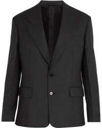 Prada - Micro Houndstooth Wool Blazer - Lyst