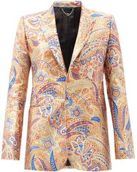 Paco Rabanne Single-breasted Paisely-jacquard Jacket - Multicolour