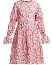 Shrimps - Peggy Broderie-anglaise Cotton-blend Dress - Lyst