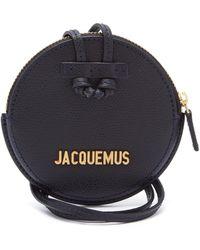 Jacquemus Le Pitchou Grained Leather Necklace Bag - Black