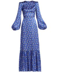 The Vampire's Wife - Belle No.1 Firework Print Silk Satin Dress - Lyst