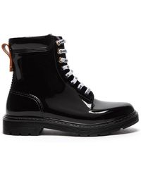 See By Chloé Leather Trim Pvc Rain Boots - Black