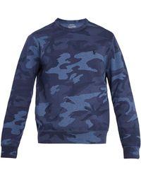Polo Ralph Lauren - Camouflage-print Cotton-blend Sweatshirt - Lyst