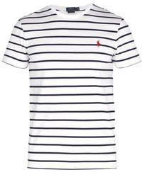Polo Ralph Lauren - Logo-embroidered Cotton-jersey T-shirt - Lyst