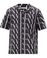 Valentino - Vltn コットンボウリングシャツ - Lyst