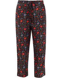 Muzungu Sisters Fern Floral-print Silk-faille Trousers - Multicolour