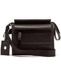 Craig Green Leather Trimmed Cross Body Bag - Black