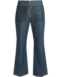 Edun - High-rise Flared Cropped Jeans - Lyst