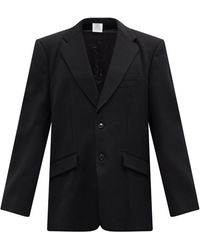 Vetements カットアウトスリーブ ツイルジャケット - ブラック