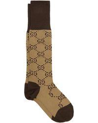 Gucci - GG-intarsia Cotton-blend Knee-high Socks - Lyst