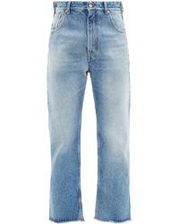 MM6 by Maison Martin Margiela Washed High-rise Boyfriend Jeans - Blue