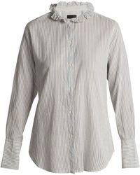 Nili Lotan - Nola Cotton-twill Shirt - Lyst