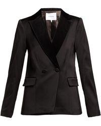 FRAME Double-breasted Tuxedo Jacket - Black