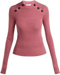 Étoile Isabel Marant - Koyle Buttoned Cotton And Wool-blend Sweater - Lyst
