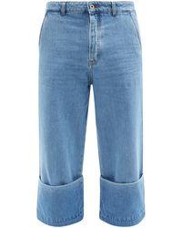 Loewe フィッシャーマン ロールアップジーンズ - ブルー