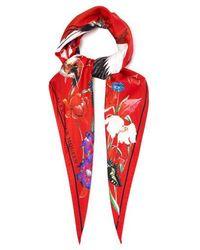 Alexander McQueen - Printed Silk Scarf - Lyst