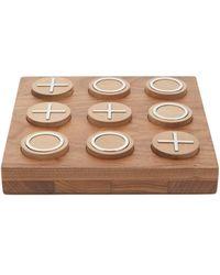 Brunello Cucinelli Walnut Tic Tac Toe Set - Brown