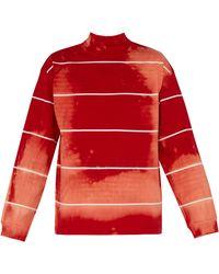 Balenciaga Pull en jersey de coton tie-dye - Rouge