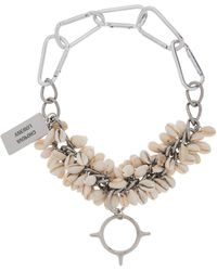 Chopova Lowena Shell And Spike Chain Choker Necklace - Metallic