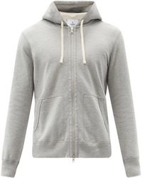 Reigning Champ Zipped Cotton-terry Hooded Sweatshirt - Grey