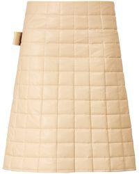 Bottega Veneta Down Quilted Skirt - Natural