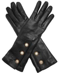 Gucci - Button-fastening Leather Gloves - Lyst