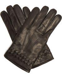 Bottega Veneta - Intrecciato Woven Leather Gloves - Lyst