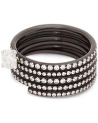 Repossi ブラスト ダイヤモンド18kブラックゴールド リング - マルチカラー
