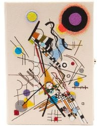 Olympia Le-Tan Kandinsky Composition Viii Appliqué Canvas Clutch - Multicolor