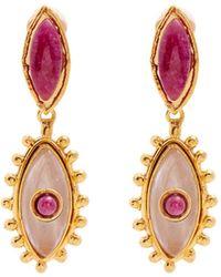 Sylvia Toledano - Evil Eye Ruby And Quartz Clip-on Earrings - Lyst