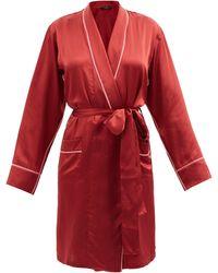 Araks Kari Silk-satin Robe - Red