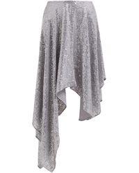 Ashish Sequinned Asymmetric Skirt - Metallic