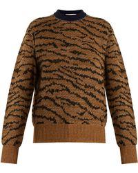 Toga - Animal-jacquard Wool-blend Jumper - Lyst