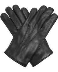 Alexander McQueen - Skull-embellished Leather Gloves - Lyst
