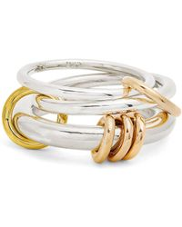 Spinelli Kilcollin - Orion Silver, Yellow & Rose Gold Ring - Lyst